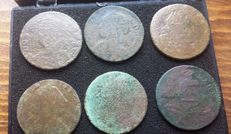 Name:  Cleaned 6 copper spill obverse.jpg Views: 177 Size:  88.2 KB
