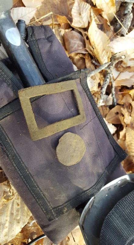 Name:  Jan 2nd shoe buckle and smashed copper.jpg Views: 54 Size:  71.2 KB